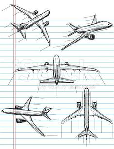 Super travel tattoo airplane planes ideas - You are in the right place about XXX Tattoo Design And Style Galleries On The Net – Are They Defi - Airplane Doodle, Airplane Sketch, Airplane Drawing, Airplane Art, Airplane Illustration, Airplane Painting, Airplane Bedroom, Cartoon Airplane, Easy Drawings For Kids
