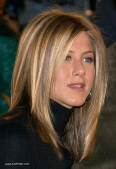 Jennifer Aniston / Beautiful and simple medium length bob hair cut is enough to make a stunning look with this honey blonde highlighted hair color. Description from pinterest.com. I searched for this on bing.com/images