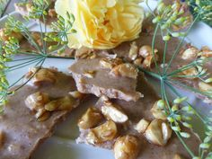 Salted macadamia butter bark at The Green Kitchen