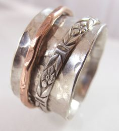 Forged Sterling Silver  and Copper by susanlambertdesigns on Etsy, $65.00