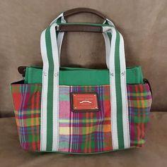 Tommy Hilfiger plaid womens purse shoulder tote bag preppy green red blue #TommyHilfiger #Clutch