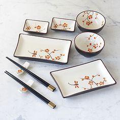 Dragonfly Crackle Sushi Set.