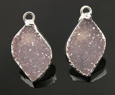 Dazzling Druzy Shapes in Earth Tones  20x12mm A by Beadspoint