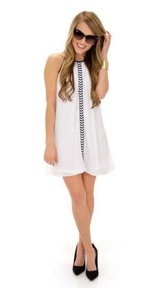 We loved this dress so much we got it in 2 colors: Pink and White! $58 at shopbluedoor.com!
