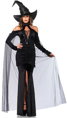 #85242 Includes a sequin trimmed deep-v stretch velvet dress with high slit and…