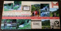 South Dakota scrapbook layout,  Spearfish Creek,  scrapbook generation kit