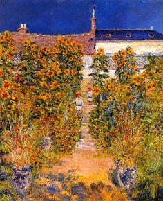 Claude Monet. The Artists Garden at Vetheuil (1881).