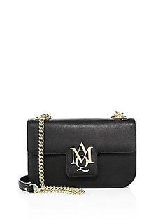 Alexander McQueen Insignia Leather Chain Satchel - Black