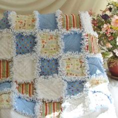 Zoo Animals Baby Rag Quilt | Quilts Just 4 Kids