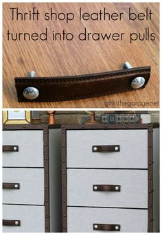 DIY thrift store furniture hack BEFORE/AFTER
