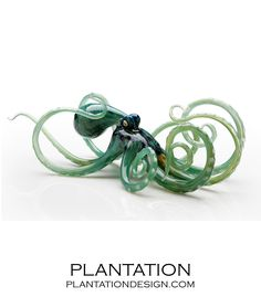 PLANTATION | Octopus in Glass | Silver Mint