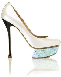 Nicholas Kirkwood pearl pump with ice glitter platform
