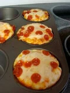 Pizza in cupcake tin