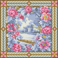Cross Stitch Rose, Cross Stitching, Baby Shower, Quilts, Embroidery, Blanket, Mantels, Printables, Decor