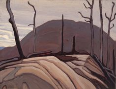 Lawren Harris - Rock and Hill (Lake Superior Sketch CXXXII) 10.5 x 14 Oil on Beaverboard (1922)