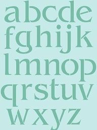 Large Letter Stencils Lower Case Letters Stencil