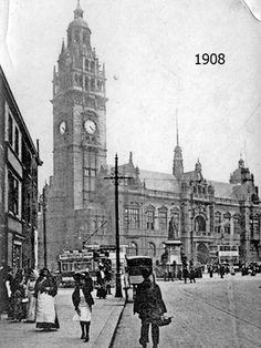 Picture Sheffield Reference The iconic neo-Gothic style Town Hall that was completed in On the right can be seen a statue of Queen Victoria, which was moved to Endcliffe Park in Sheffield Pubs, Sheffield Steel, Sheffield England, South Yorkshire Transport, Sources Of Iron, Then And Now Photos, Derbyshire, Town Hall