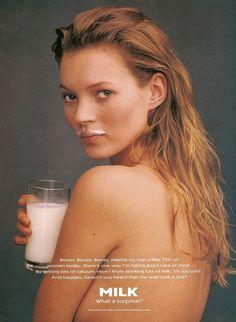 Kate Moss by Annie Leibovitz Got Milk? 1995