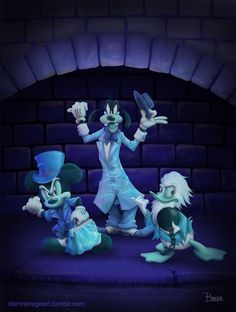 Mickey, Donald, and Goofy as the 3 Haunted Mansion Hitchhiking Hitchhiking Ghosts Walt Disney, Disney Rides, Disney Magic, Disney Art, Disney Pixar, Disneyland Rides, Vintage Disneyland, Downtown Disney, Disney Villains