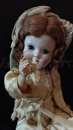 Creepy Antique Horseman Bride Doll by LoveBizarreOddities on Etsy
