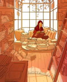 37 Illustrations that capture the beauty of living alone. person Illustrator Perfectly Captures The Happiness Of Living Alone In 37 Illustrations Joy Of Living, Living Alone, Christopher Mccandless, Aesthetic Art, Cute Art, Art Girl, Book Worms, Book Lovers, Book Art