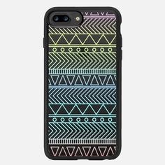 Tribal Aztec Purple Lilac Yellow Blue Green Red Pale Ombre - クラシックグリップ ケース