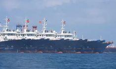 South China Sea: alarm in Philippines as 200 Chinese vessels gather at disputed reef | South China Sea | The Guardian Shiga, Palawan, Chinese Boat, Fishing Vessel, Sea Captain, Marine Environment, My Marine, Navy Ships, Coast Guard