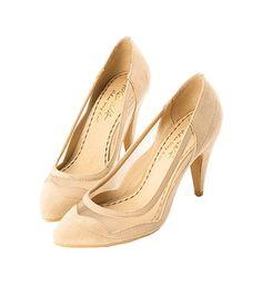 Grace giftGrace gift 官方購物網站 - 性感脣形網紗尖頭高跟鞋