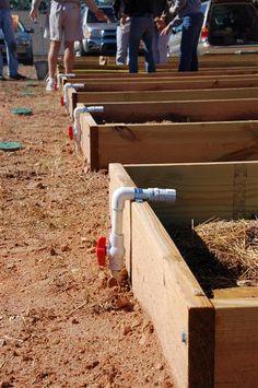 Raised bed irrigation
