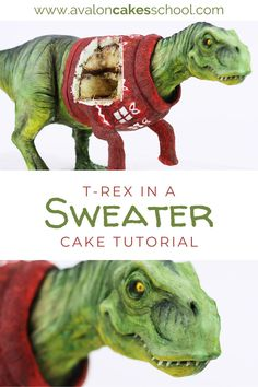 Looking to add something new to your holiday baking menu this year? Check out our T-Rex in a Christmas Sweater cake decorating tutorial. We'll show you how to build the dinosaur cake structure, how to model the dinosaur parts prior to adding the cake so your cake stays fresh and doesn't dry out, how to carve and mold the dinosaur parts, and how to paint modeling chocolate (so your T-Rex can have an ugly Christmas sweater)!  Avalon Cakes School has hundreds of cake decorating tutorials.