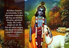 Lord Krishna  For full quote go to: http://quotes.iskcondesiretree.com/brahma-samhita-on-lord-krishna/  Subscribe to Hare Krishna Quotes: http://harekrishnaquotes.com/subscribe/  #Krishna