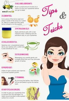 8 Beaty Tips And Tricks To Have Longer And Thicker Eyelashes. Pls Dont Forget To Like :)