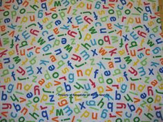 Alphabet Snuggle Cotton Flannel Fabric - Childrens sewing fabric by flyingdollar on Etsy