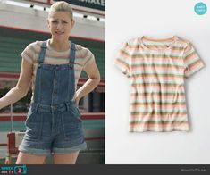 AE Crew Neck Boy T-shirt worn by Betty Cooper (Lili Reinhart) on Riverdale Tv Show Outfits, Lit Outfits, Girly Outfits, Trendy Outfits, Summer Outfits, Betty Cooper Style, Betty Cooper Outfits, Betty Cooper Riverdale, Riverdale Betty