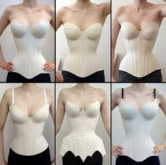 Once again I have immersed myself in the mysteries of drafting corsets with well fitting cups. Motif Corset, Corset Sewing Pattern, Diy Corset, Bra Pattern, Underbust Corset, Looks Street Style, Clothing Hacks, Fashion Sewing, Sewing Clothes