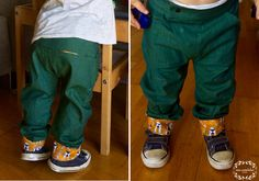 Book fold trousers