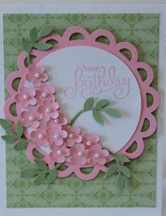 Happy Birthday Flower Bouquet Card Stampin Up Handmade by elisa