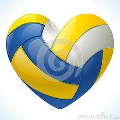I love volleyball. Amo el voleibol.