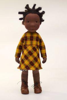 Nina / cloth doll. 400.00, via Etsy.