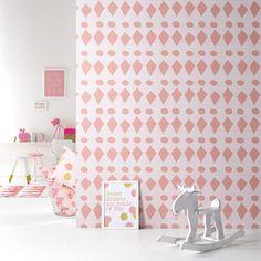 flags Pink behangpapier woonkamer slaapkamer interieur design muurdecoratie
