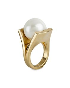 Gold-Plated Pinball Ring, Size 7