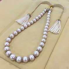 René Boivin Pearl and Diamond 'Collier Hindou' Necklace, circa 1950s/60s at Excalibur Jewelry
