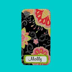 Personalized Neon Floral Case