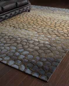 """""""Jaded Pebbles"""" Rug - Horchow"""