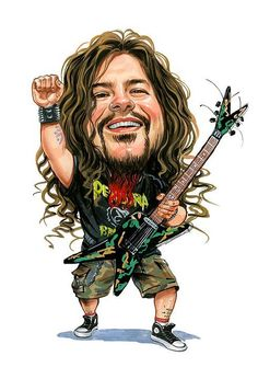 Dimebag Darrell ( Pantera, Damageplan ) Rest in Peace ! Dimebag Darrell, Funny Caricatures, Celebrity Caricatures, Hard Rock, Groove Metal, Heavy Metal Bands, Metal Artwork, Canvas Prints, Art Prints