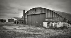 An old photograph depicting the RAF base at Burtonwood, the largest USAF base in Europe. Raf Bases, Warrington Cheshire, Hawker Hurricane, Hangers, Ww2, Diesel, Buildings, British, Photograph