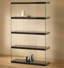 Contemporary Glass Display Cabinet Showcase Antiques Collectibles Trophy Case
