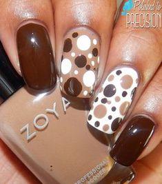 25 Фото коричневого маникюр, коричневый дизайн ногтей