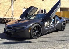 The team at Polar Porsche equipped this BMW i8 with these 20-inch Forgeline SC3C wheels made with the shallow concave profile option and finished in all Matte Black. See more at: http://www.forgeline.com/customer_gallery_view.php?cvk=1464  #Forgeline #SC3C #notjustanotherprettywheel #madeinUSA #BMW #i8