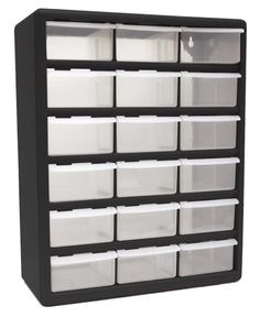 Akro-Mils 10164 64 Drawer Plastic Parts Storage Hardware and Craft ...